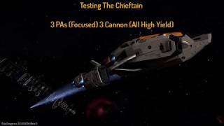 Elite Dangerous PVP | Testing The Chieftain 3x PAs 3x Cannons (High Yield)
