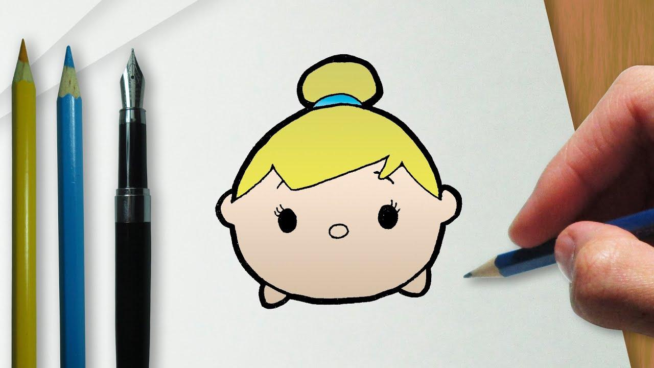 Cómo dibujar Campanilla en la versión Disney Tsum Tsum - YouTube