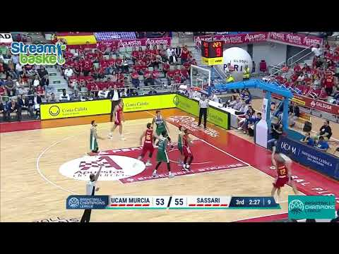 25.10.2017 Champions L.  MURCIA - SASSARI  78 - 83