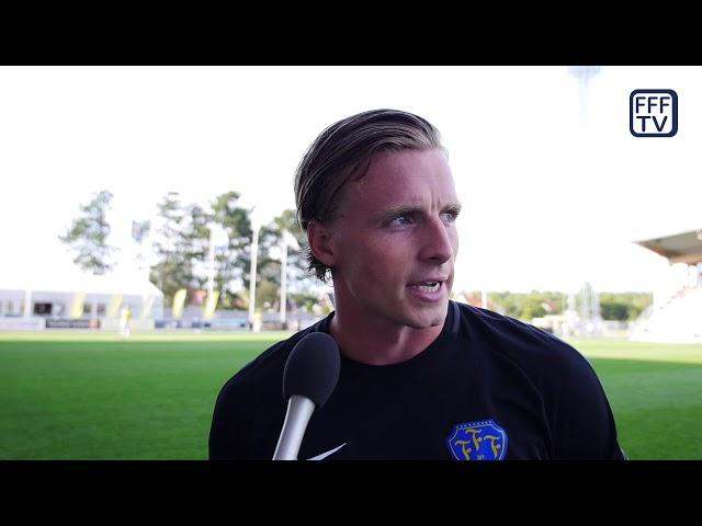 Intervju Calle Johansson, Falkenbergs FF - IFK Göteborg, Allsvenskan 2019