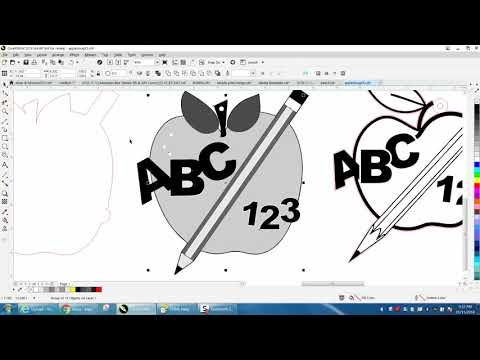 Corel Draw Tips & Tricks Clipart Teacher Apple Part 4