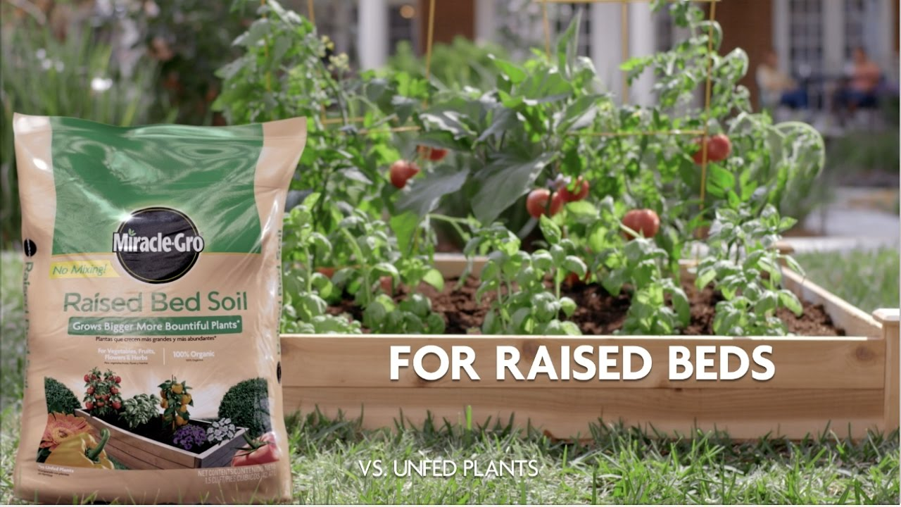 How to Use Miracle-Gro® Raised Bed Garden Soil - YouTube
