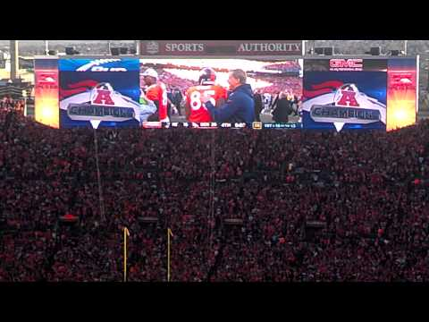 AFC Championship Game, final kneel down and celebration.