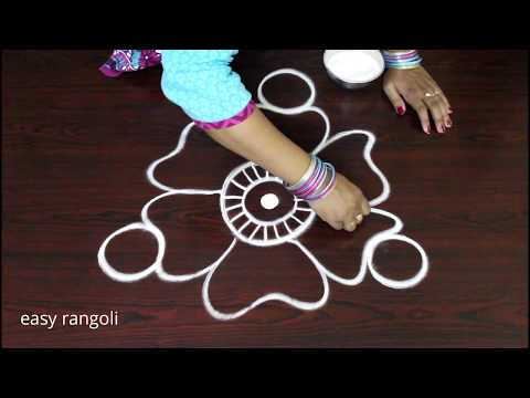 How to Draw Creative rangoli art designs without dots || freehand kolam designs