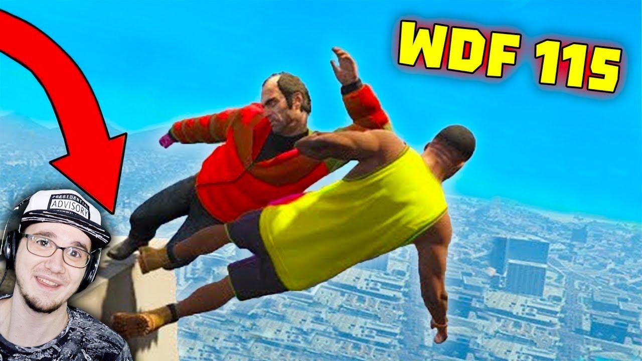 Лютые приколы в играх ► WDF 115 - Как спуститься с крыши? | Реакция