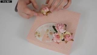 Cara membuat Exploding Box Card   Scrapbooking Tutorial   DIY Kerajinan Kertas