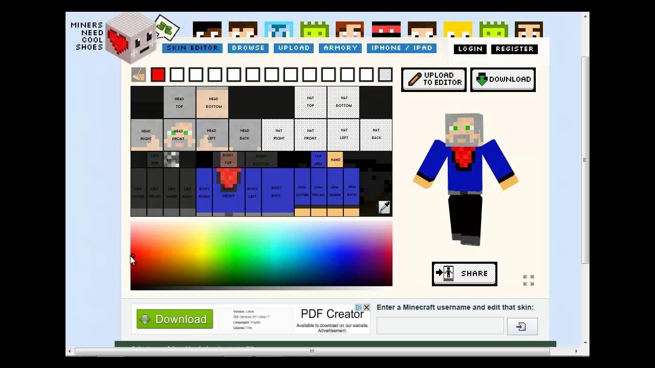 Minecraft Skin Editor For Mac