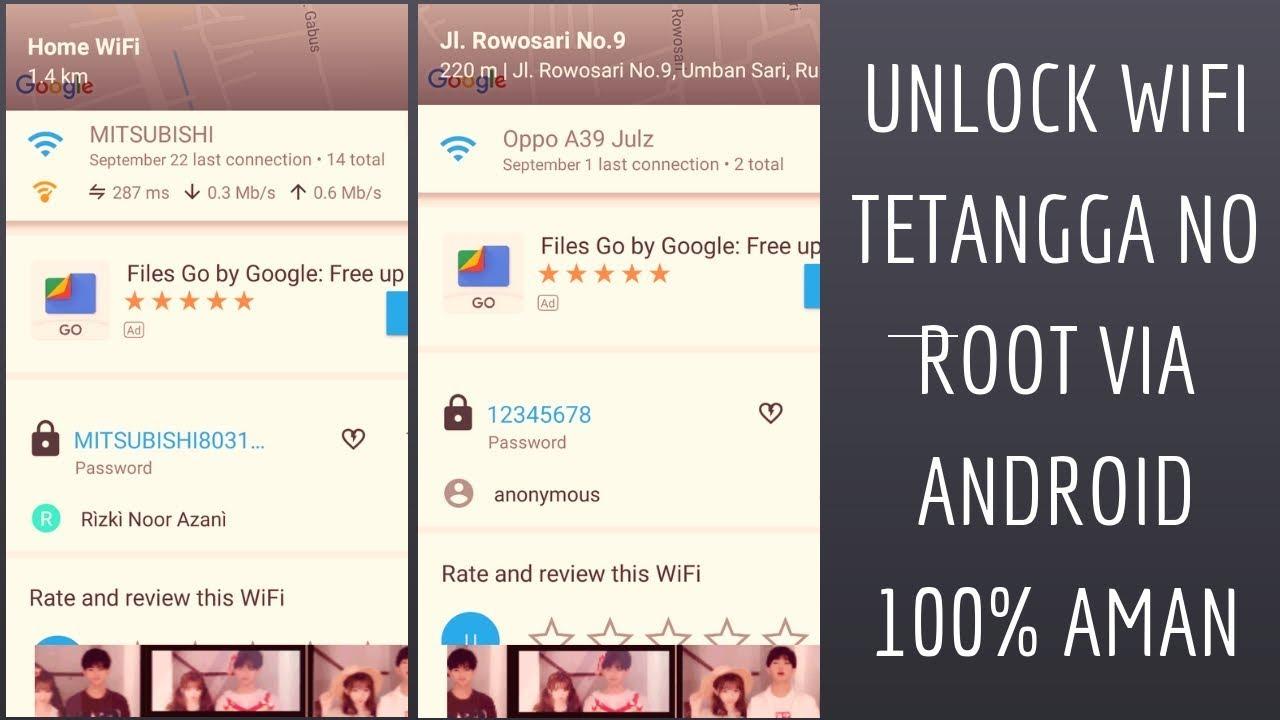 Cara Unlock Password Wifi Tetangga Via Android No Root 100 Aman