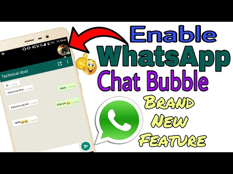 how to enable chat bubble in whatsapp youtube
