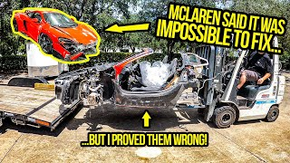 Mclaren Said It Was IMPOSSIBLE To Fix My 675LT's Broken Carbon Fiber Frame...So I Proved Them WRONG