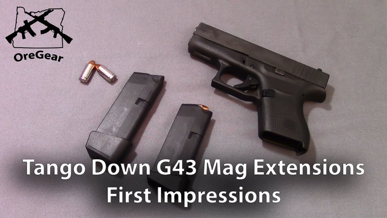 Tango Down Glock 43 Mag Extension -  First Impressions