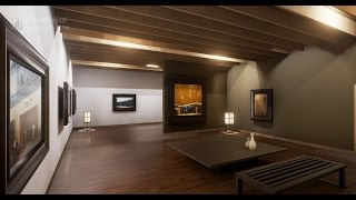 Speed Level Design - Modern Japanese Exhbition Space - Unreal Engine 4 - christinayan