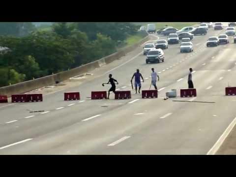 Protesto na rodovia Presidente Dutra