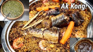 BENACHINITHIEBOU NYEBEH AK KONG FUME FISH JOLLOF RICE WITH BEANS