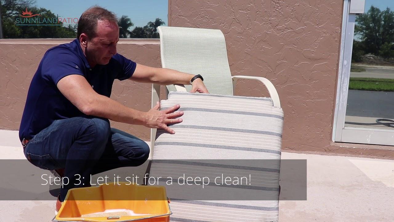 How To Clean Sunbrella Cushion Sunniland Patio