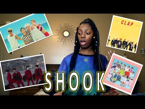 Reacting to KPOP Boy Groups for the FIRST TIME! (Winner, Seventeen, Wanna One, Nu'est)
