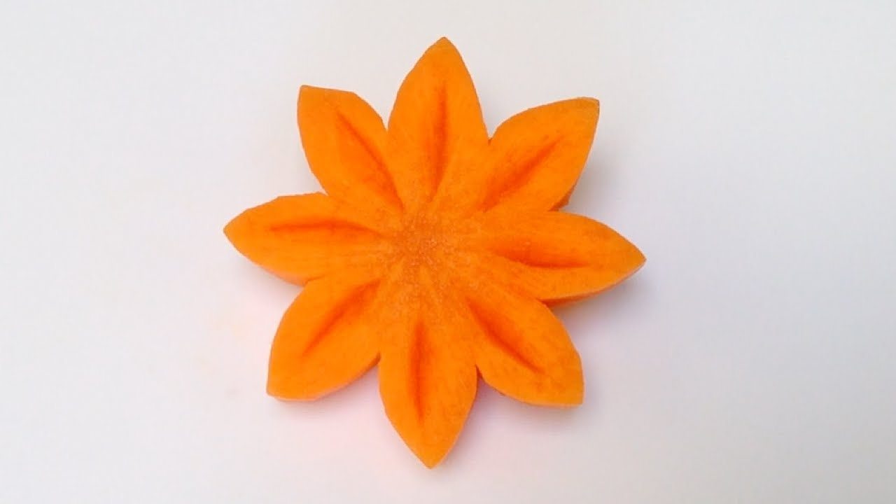 Simple art of christmas carrot flower part beginners