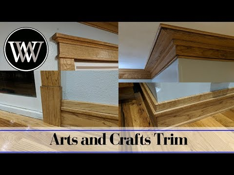 Making Mission or Arts and Crafts Style Trim Window, Door, Baseboard and Crown Molding