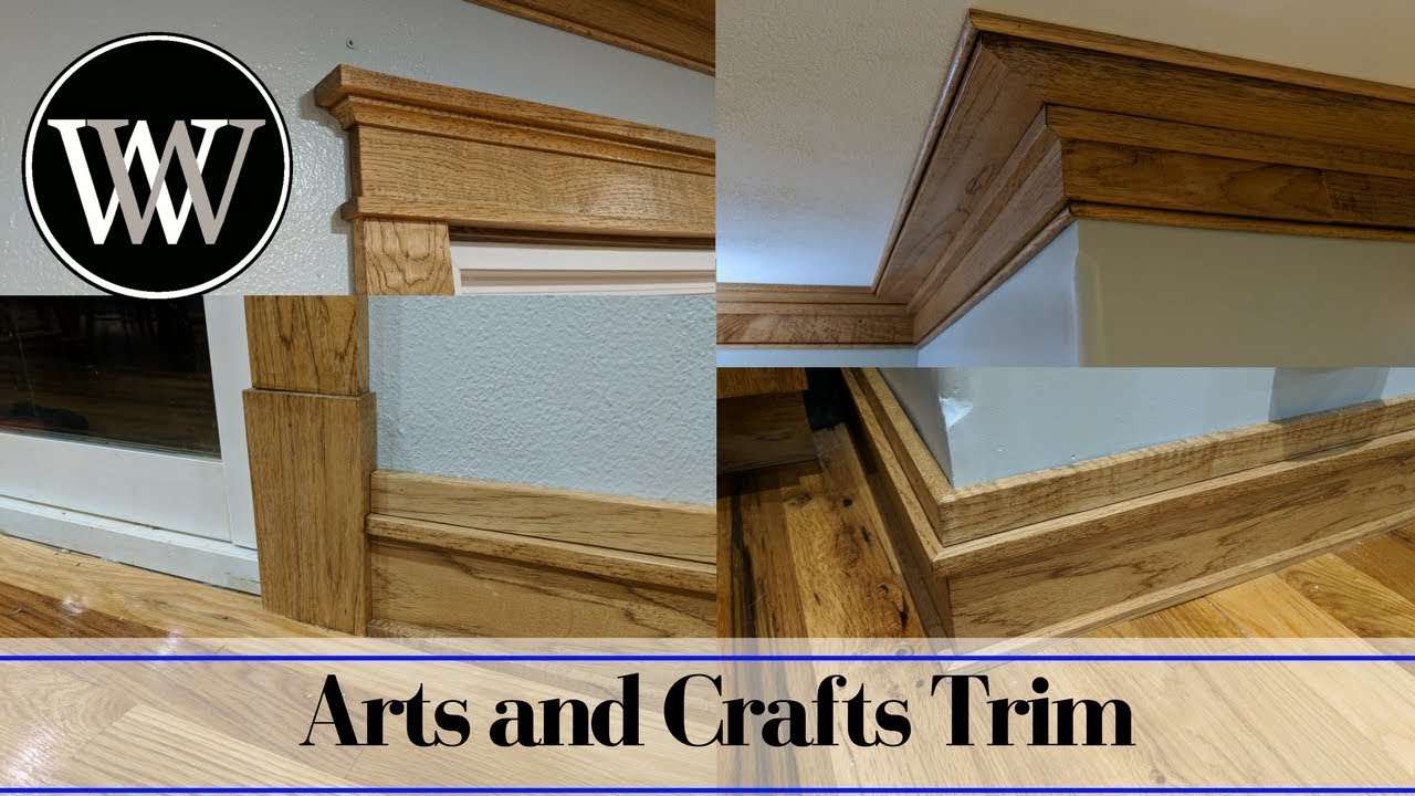 Making Mission Or Arts And Crafts Style Trim Window Door Baseboard Crown Molding