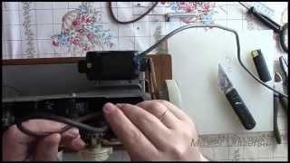 Подольск 142. Кожаный ремень на швейную машинку с электроприводом. Видео №77.