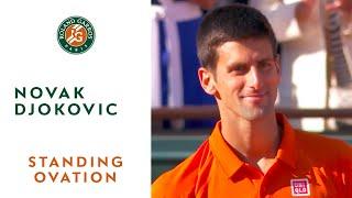 Repeat youtube video Huge standing ovation for 2015 French Open runner-up Novak Djokovic