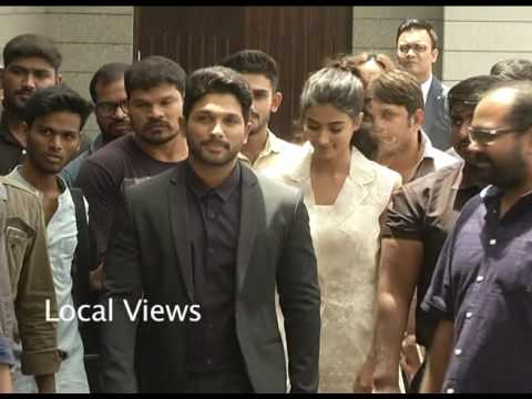 Tollywood Actor alluarjun in Bangalore DJ movie promotion