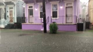7th Ward streets flood as rain falls in New Orleans on Aug. 5, 2017