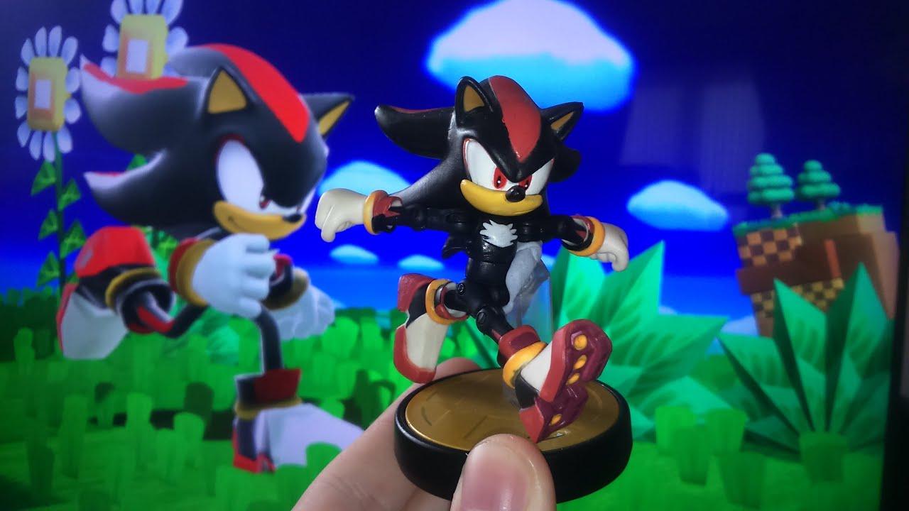 Shadow In Super Smash Bros Wii U Custom Shadow Amiibo Youtube