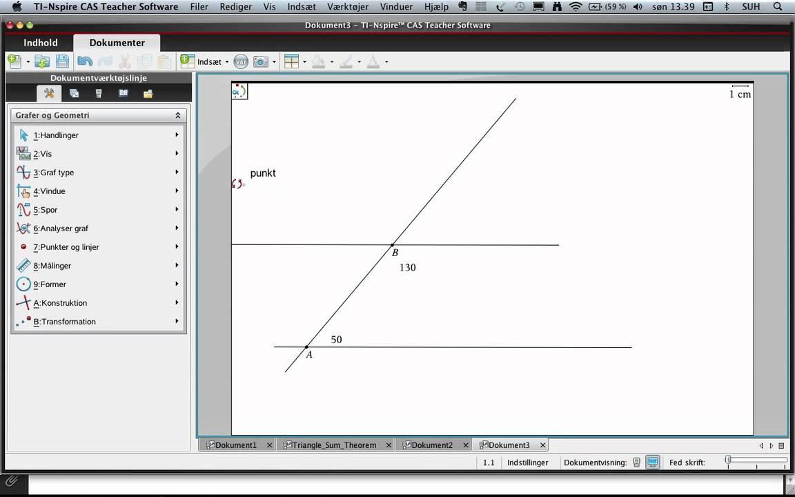 TI Nspire CAS og konstruktion af trekanter