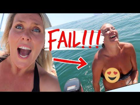 First Time Fishing, And Bikini Top Malfunction!