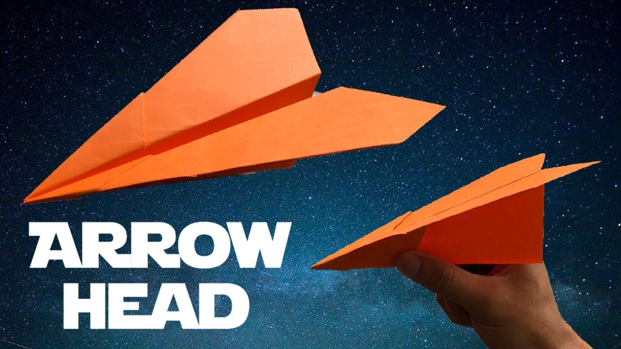 Download How to make a Paper Airplane -  Arrowhead by Foldable Flights