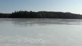 Meech Lake March 2009 - Skating the Lake