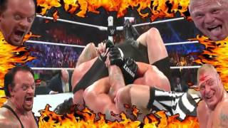 *NOT ASMR* WWE Undertaker vs Brock Lesnar Moments SummerSlam 2015