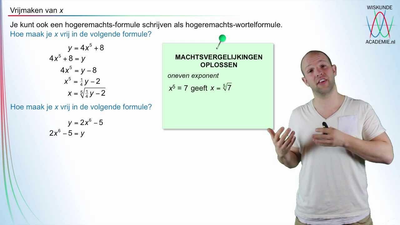 Variabele Vrijmaken Bij Machtsformules Wiskundeacademie Youtube