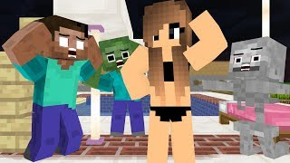 Monster School RIP HEROBRINE - Minecraft Animation