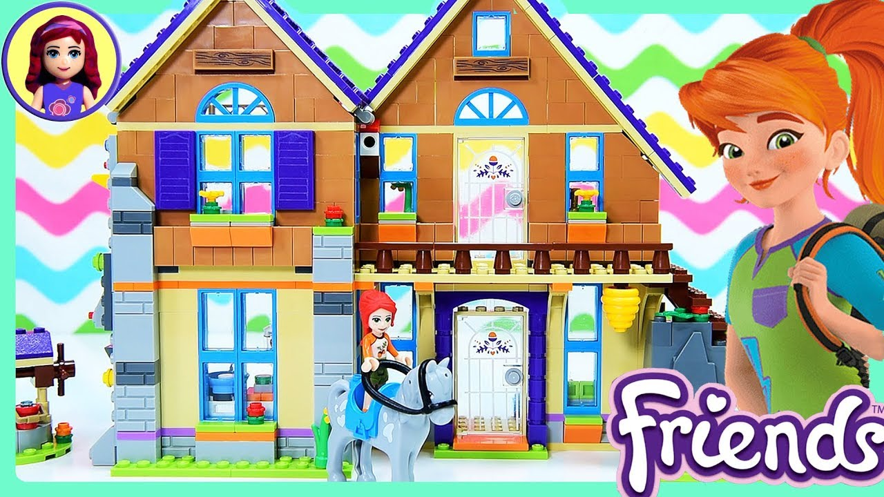 Lego Friends Mias House Build Part 1 Review For Kids Youtube