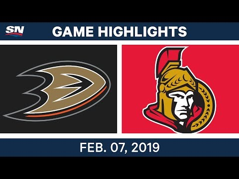 NHL Highlights | Ducks vs. Senators - Feb. 7, 2019