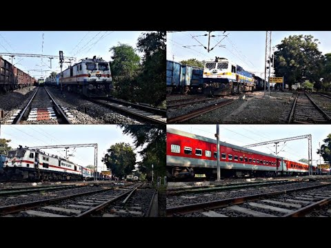 IRFCA - Train Exploration In Pure Electric Territory - West Central Railway !! I.R