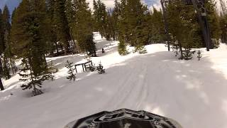 Snowmobiling Iron Mountain, California Amador County Sierra Nevadas - Part 4