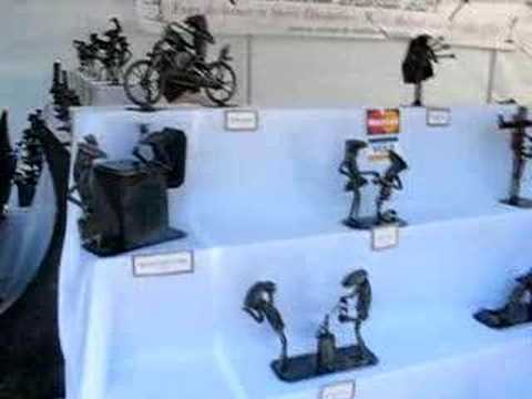 Iron sculptures at allentown art festival buffalo ny for Hamburg ny craft show