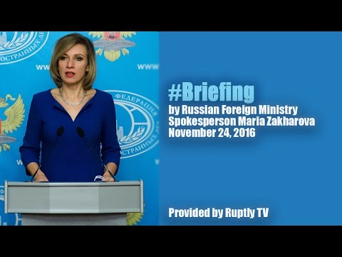Russian FM Spokesperson Maria Zakharova held Press Briefing