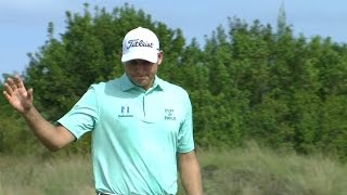 Bill Haas sinks putt for birdie from fringe at the Hero World Challenge
