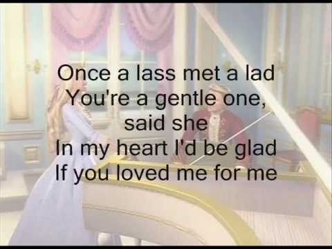 If you Love Me for Me Barbie as the Princess and the Pauper w Lyrics
