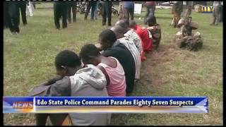 Edo State Police Command Parades Eighty Seven Suspects