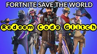 Fortnite Save The World Redeem Code Glitch Xbox/PS4