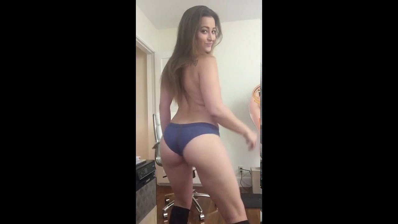 WHITE GIRL Twerk \ booty shake \ sexy ass twerking \ HOT 18+