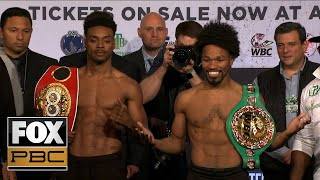 Shawn Porter, Errol Spence Jr. make weight for their unification bout | WEIGH-INS | PBC ON FOX