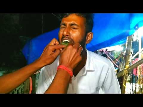 Crazy FLAMING FIRE PAAN ( Ice Paan )  - A New Indian Fad Slow Motion - Exotic Indian Street Food