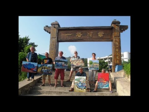 A group of French Artists on plein-air in Shantou, China; 2013