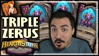 TRIPLE ZERUS OMG! - Hearthstone Battlegrounds
